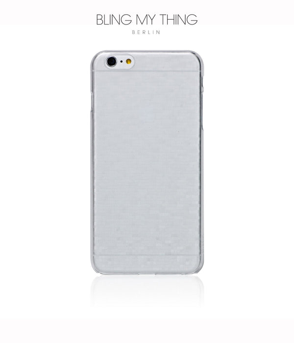 Slim, Translucent, hard case for iPhone 6s Plus : Mosaic Ice (white) - Bling My Thing
