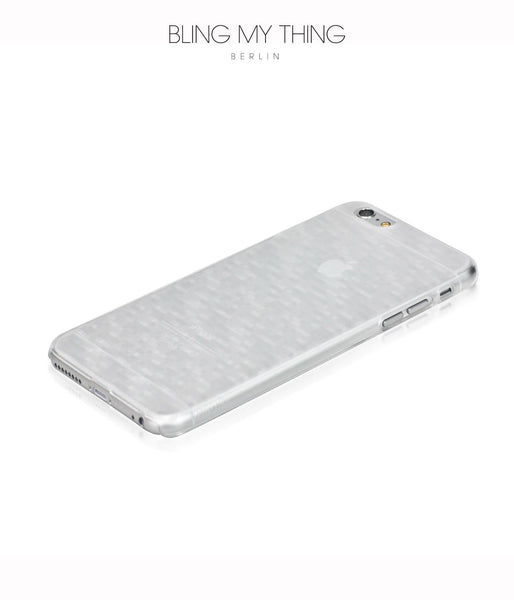Slim, Translucent, hard case for iPhone 6s Plus :  Mosaic Ice (white)