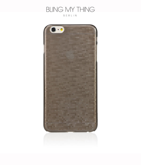 Slim, Translucent, hard case for iPhone 6s Plus : Mosaic Cappuccino (brown) by AYANO - Bling My Thing