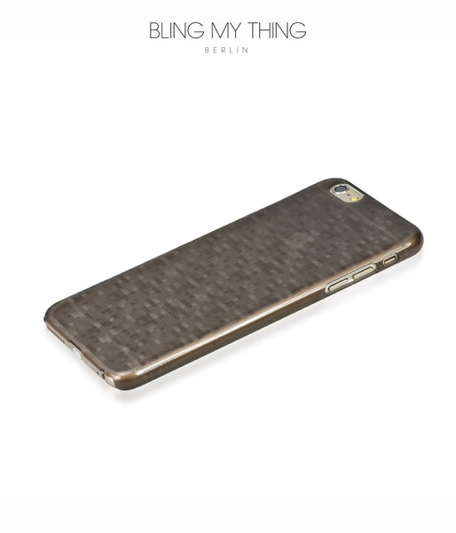 Slim, Translucent, hard case for iPhone 6s Plus : Mosaic Cappuccino (brown) by AYANO