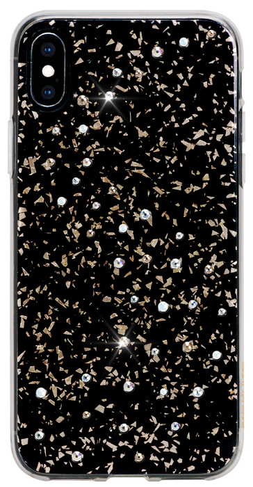 iPhone XS Max : MILKY WAY ᛫ BLACK GALAXY ᛫ a cover with Swarovski Crystals - Bling My Thing - Swarovski Protective iPhone Case