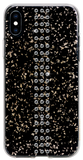 STRIPE ᛫ BLACK GALAXY ᛫ clip-on hard cover with Swarovski Crystals for iPhone XS Max
