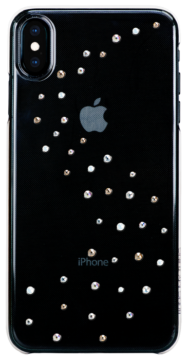 For iPhone XS Max: MILKY WAY ᛫ CLEAR ᛫ clip-on hard cover with Swarovski Crystals - Bling My Thing
