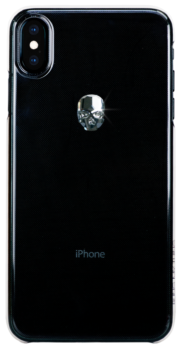 For iPhone XS Max: TREASURE ᛫ CLEAR ᛫  clip-on hard cover with Skull Swarovski Crystals - Bling My Thing - Swarovski Protective iPhone Case
