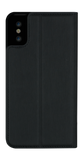 Primo Flip Collection Black Metallic Fabric for iPhone X & XS Case - Bling My Thing