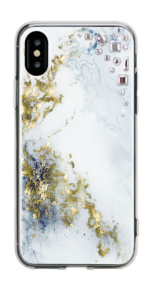 EDGE ᛫ ALABASTER ᛫ hard, clip-on cover with CRYSTAL (001) Swarovski Crystals for iPhone X & XS