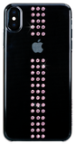 For iPhone XS Max: STRIPE ᛫ CLEAR ᛫ clip-on hard cover with Swarovski Crystals - Bling My Thing