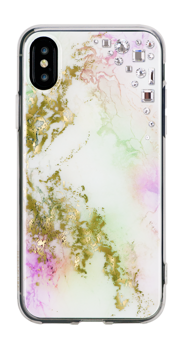 EDGE ᛫ ALABASTER ᛫ hard, clip-on cover with CRYSTAL (001) Swarovski Crystals for iPhone X & XS - Bling My Thing