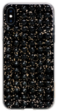 EXTRAVAGANZA ᛫ BLACK GALAXY with 3D gold glitter ᛫ double-sided TPU case - with Swarovski Crystals for iPhone XS Max - Bling My Thing