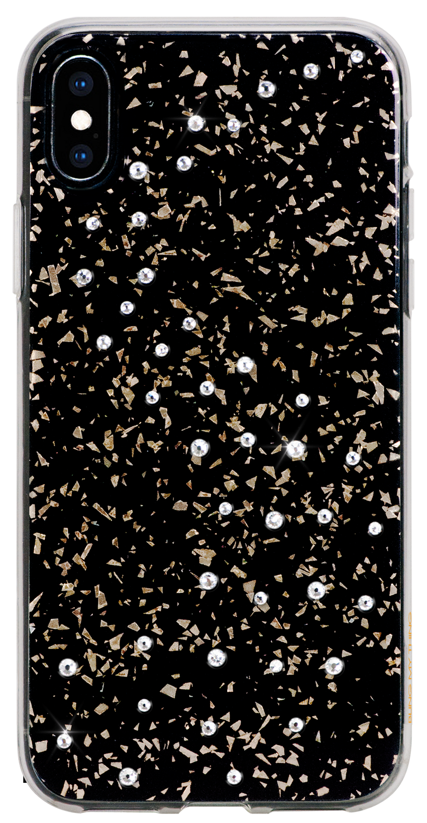 For iPhone XS Max : MILKY WAY ᛫ BLACK GALAXY ᛫ a cover with Swarovski Crystals - Bling My Thing