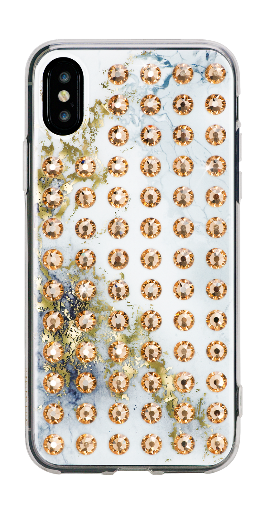 EXTRAVAGANZA ᛫ ALABASTER ᛫ clip-on cover with Swarovski Crystals for iPhone X & XS - Bling My Thing - Swarovski Protective iPhone Case