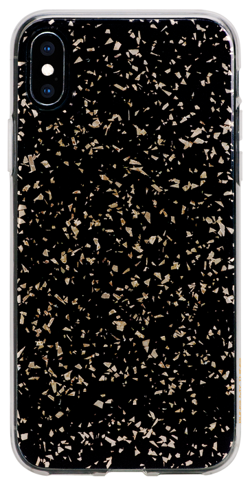 CHIC ᛫ BLACK GALAXY ᛫ with shimmering effect ᛫ double-layered TPU cover for iPhone XS Max