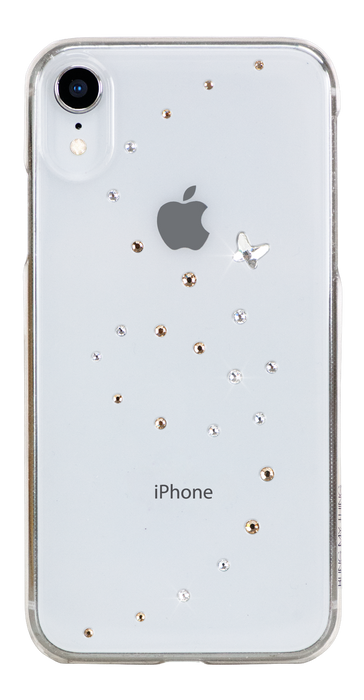 PAPILLON ᛫ CLEAR ᛫ clip-on hard cover with Swarovski Crystals for iPhone XR - Bling My Thing