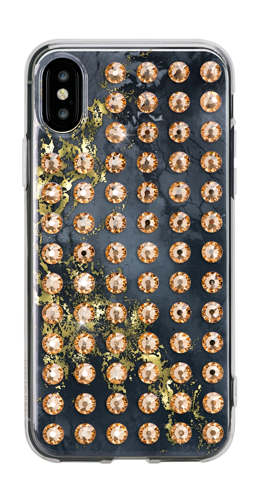 EXTRAVAGANZA ᛫ ONYX ᛫ hard clip-on case with Swarovski Crystals for iPhone X & XS - Bling My Thing - Swarovski Protective iPhone Case