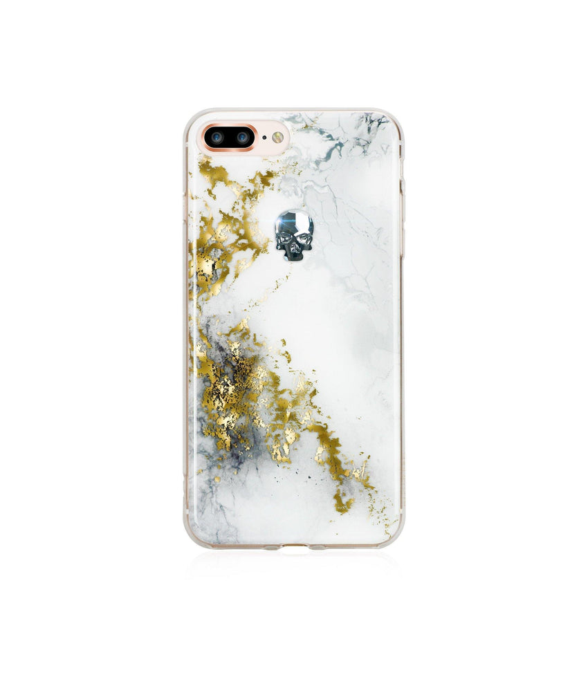 TREASURE COLLECTION UNICORN / GOLD SKULL for iPhone 8 PLUS case - Bling My Thing - Swarovski Protective iPhone Case