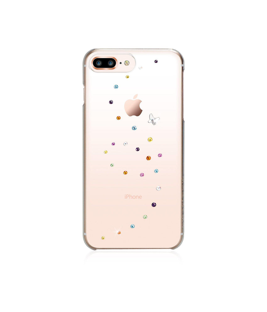 Papillon Rose Sparkles, iPhone 8 Plus - Bling My Thing - Swarovski Protective iPhone Case