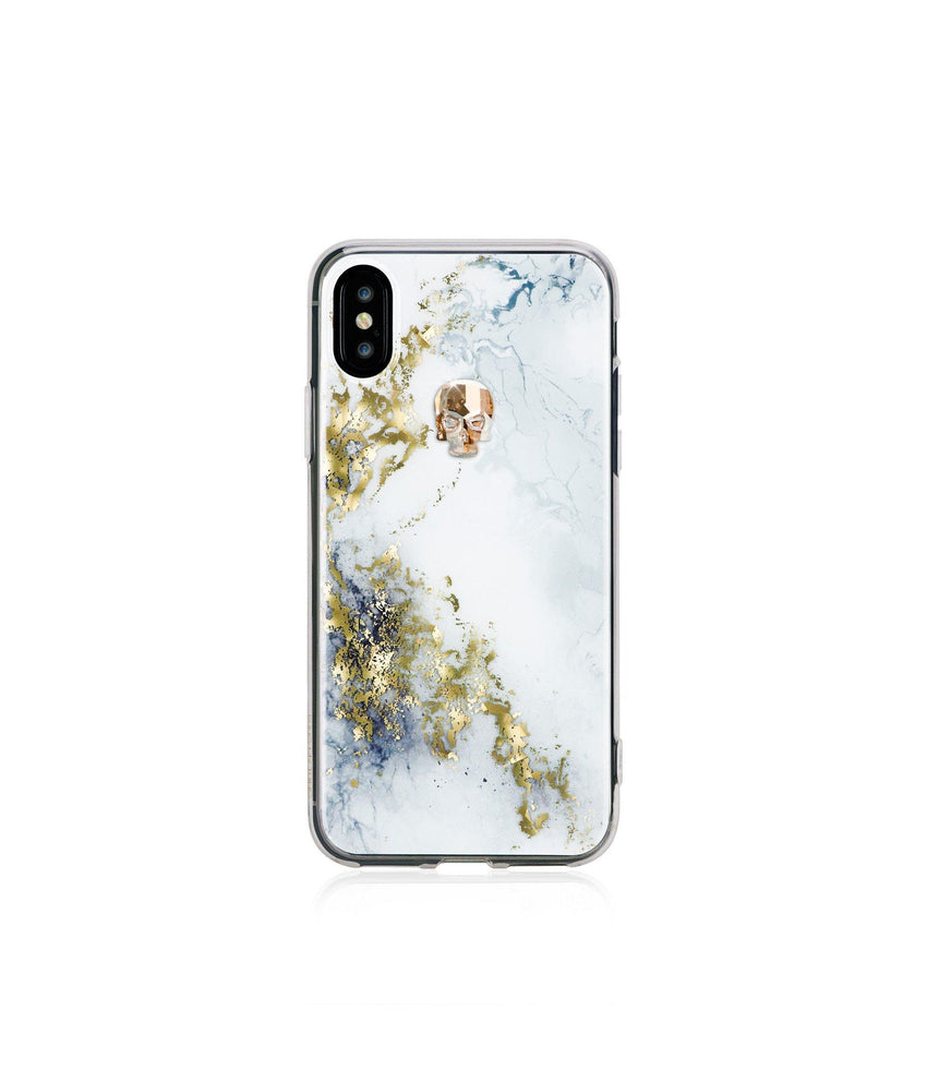 TREASURE ᛫ ALABASTER ᛫ clip-on TPU cover with Skull Swarovski Crystals for iPhone X & XS - Bling My Thing