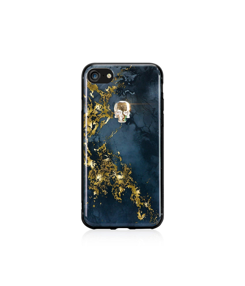 TREASURE COLLECTION ALABASTER / GOLD SKULL for iPhone 8 case - Bling My Thing - Swarovski Protective iPhone Case