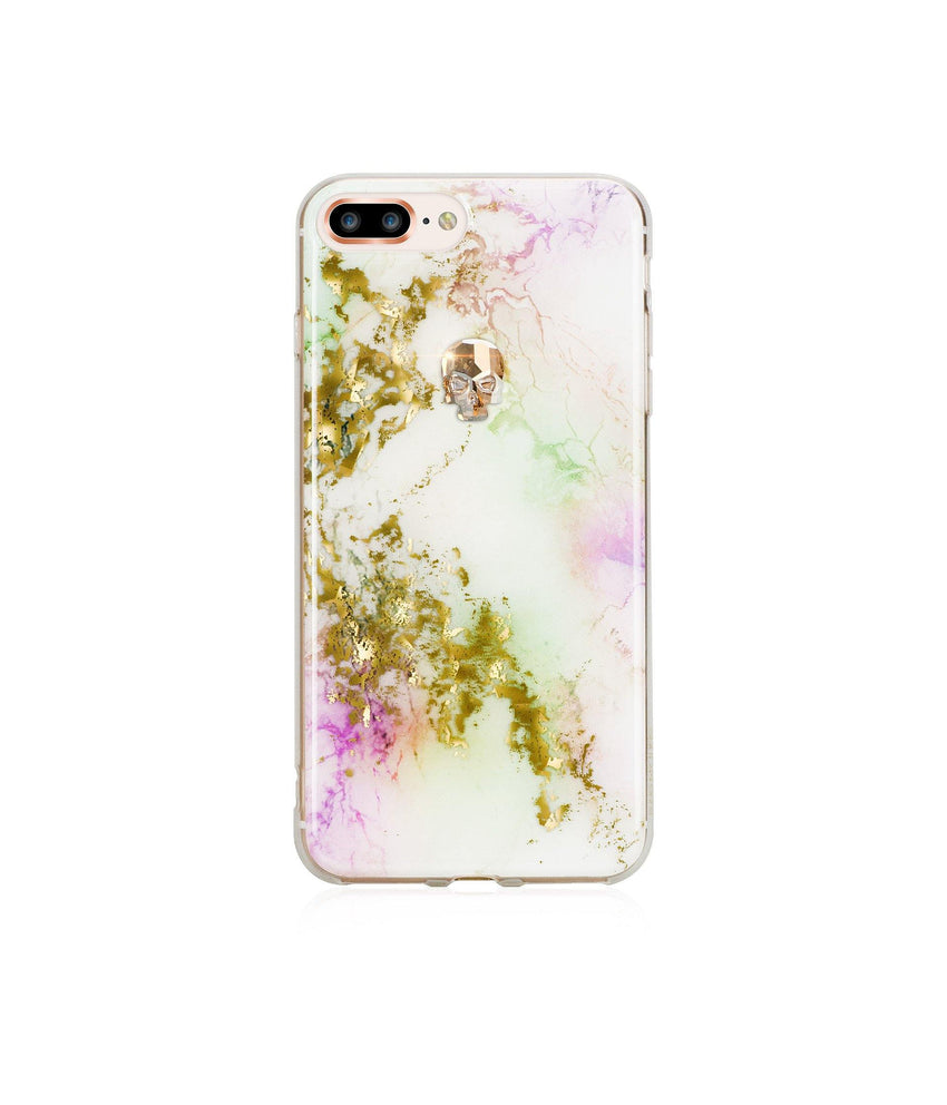 TREASURE COLLECTION UNICORN / GOLD SKULL for iPhone 8 PLUS case - Bling My Thing
