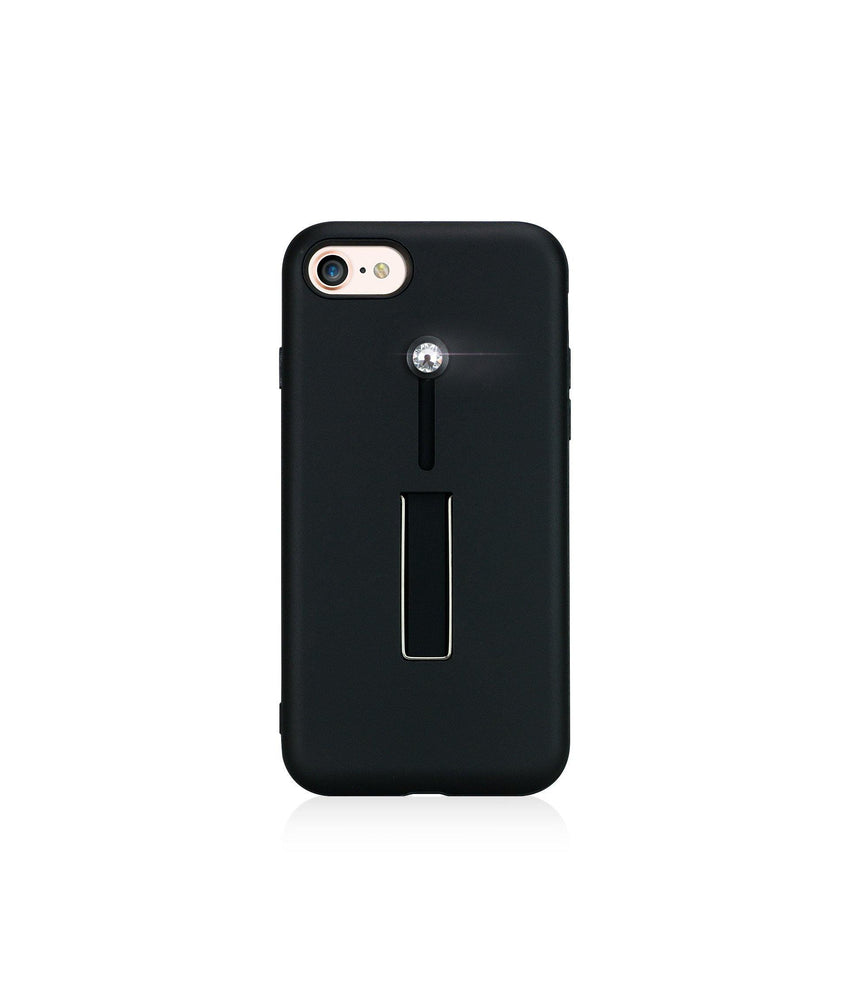 SelfieLOOP* Collection - BLACK/CRYSTAL - for iPhone 8 - Bling My Thing