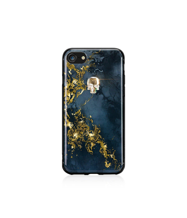 TREASURE COLLECTION ONYX / GOLD SKULL for iPhone 8 case - Bling My Thing