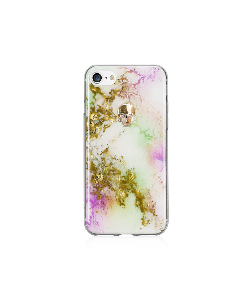 TREASURE COLLECTION UNICORN / GOLD SKULL for iPhone 8 case - Bling My Thing