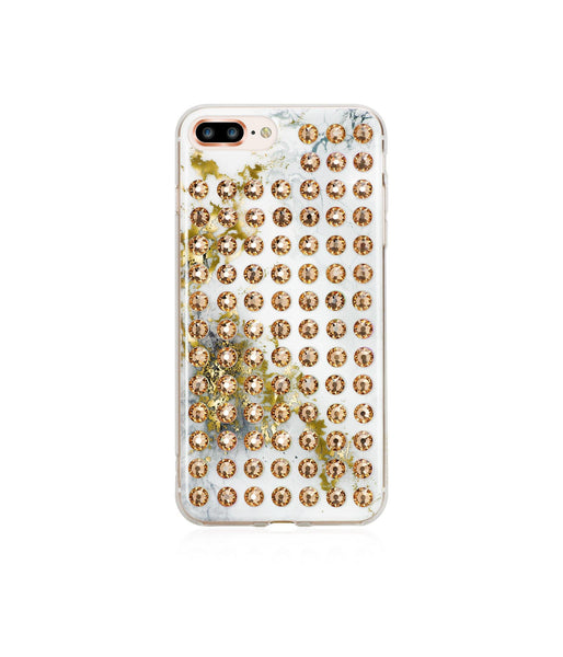 Ultimate Sparkle! ALABASTER GOLD BRILLIANCE Extravaganza gold case for iPhone 8 Plus