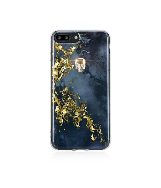 TREASURE COLLECTION ONYX / GOLD SKULL for iPhone 8 PLUS case