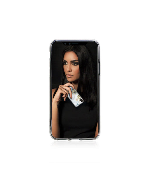 TREASURE ᛫ ALABASTER ᛫ clip-on TPU cover with Skull Swarovski Crystals for iPhone X & XS
