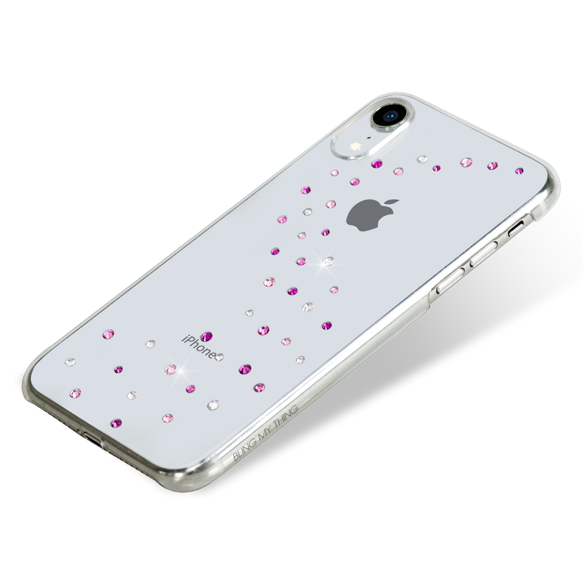MILKY WAY ᛫ CLEAR ᛫ clip-on hard cover with Swarovski Crystals for iPhone XR - Bling My Thing