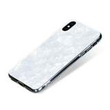 CHIC ᛫ PEARL WHITE ᛫ with shimmering effect ᛫ double-layered TPU cover for iPhone X & XS - Bling My Thing