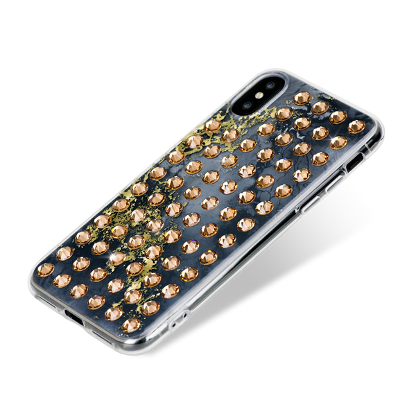EXTRAVAGANZA ᛫ ONYX ᛫ hard clip-on case with Swarovski Crystals for iPhone X & XS