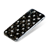 POLKA DOTS ᛫ Black Galaxy, rigid double-layer TPU cover with Swarovski Crystals for iPhone X & XS - Bling My Thing
