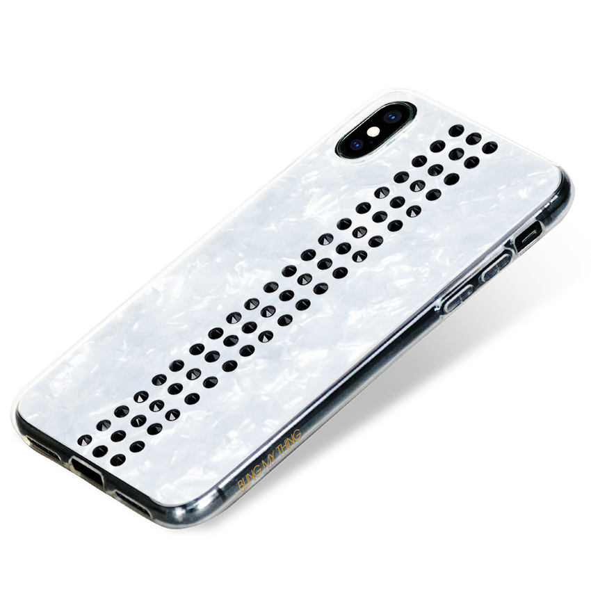STRIPE ᛫ PEARL WHITE ᛫ for iPhone XS Max - Bling My Thing