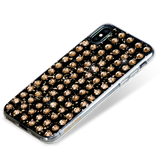EXTRAVAGANZA ᛫ BLACK GALAXY with 3D gold glitter ᛫ double-sided TPU case - with Swarovski Crystals for iPhone XS Max