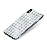 EXTRAVAGANZA ᛫ PEARL WHITE ᛫ clip-on cover with Swarovski Crystals for iPhone X & XS - Bling My Thing - Swarovski Protective iPhone Case