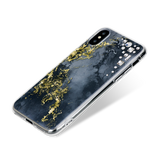 EDGE ᛫ ONYX ᛫ hard, clip-on cover with CRYSTAL (001) Swarovski Crystals for iPhone X & XS - Bling My Thing