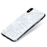MILKY WAY ᛫ PEARL WHITE ᛫ clip-on double-layered TPU cover with Swarovski Crystals for iPhone XS Max
