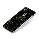 TREASURE ᛫ BLACK GALAXY ᛫ clip-on TPU cover with Skull Swarovski Crystals for iPhone X & XS - Bling My Thing