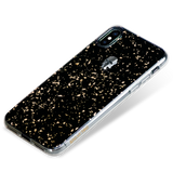 TREASURE ᛫ BLACK GALAXY ᛫  doubled-layered TPU cover with Skull Swarovski Crystals for iPhone XS Max