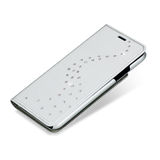 Primo - Silver Metallic Fabric Wallet Case - Milky Way Swarovski Crystals for iPhone X & XS - Bling My Thing
