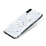 PAPILLON ᛫ PEARL WHITE ᛫ clip-on cover with Swarovski Crystals for iPhone X & XS - Bling My Thing