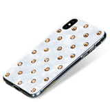 POLKA DOTS ᛫ PEARL WHITE - double-layer TPU cover with Swarovski Crystals for iPhone XS Max