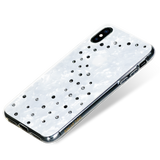MILKY WAY ᛫ PEARL WHITE ᛫ clip-on double-layered TPU cover with Swarovski Crystals for iPhone XS Max - Bling My Thing