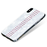 STRIPE ᛫ PEARL WHITE ᛫ double-layered TPU cover with Swarovski Crystals for iPhone XS Max
