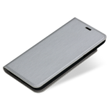 Primo Flip Collection Silver Metallic Fabric for iPhone X & XS case - Bling My Thing