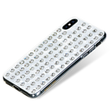 EXTRAVAGANZA ᛫ PEARL WHITE ᛫ hard cover with Swarovski Crystals for iPhone XS Max