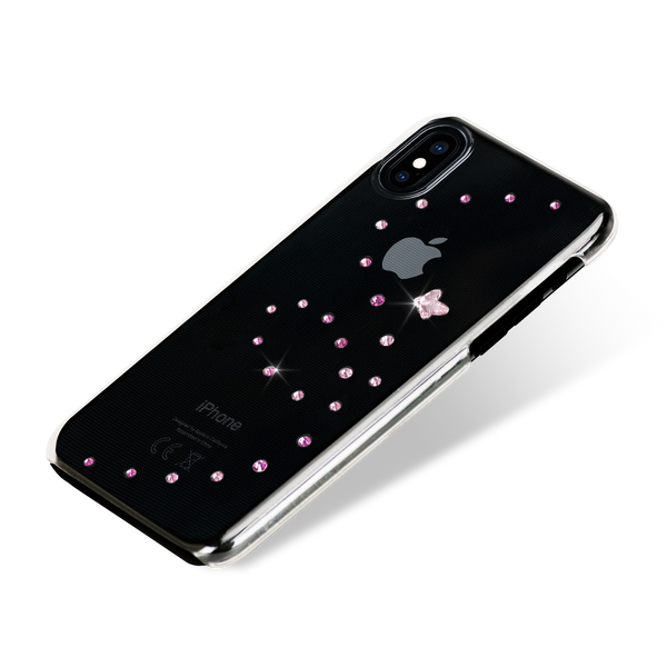 PAPILLON ᛫ CLEAR ᛫ clip-on hard cover with Swarovski Crystals for iPhone X & XS