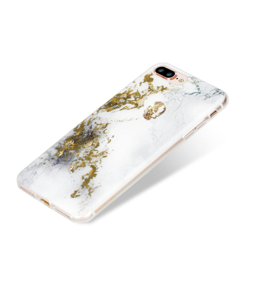 TREASURE COLLECTION ALABASTER / GOLD SKULL for iPhone 8 PLUS case - Bling My Thing
