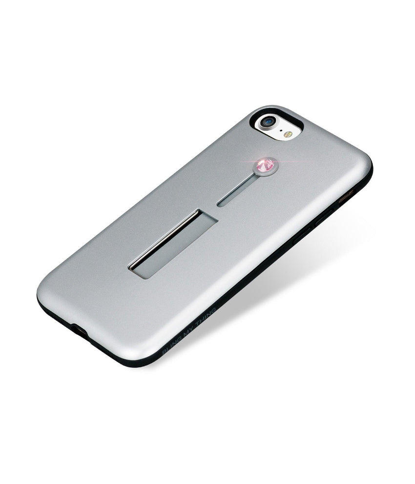 SelfieLOOP* Collection -SILVER/PINK - for iPhone 8 - Bling My Thing